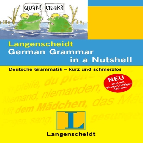 کتاب German Grammar in a Nutshell